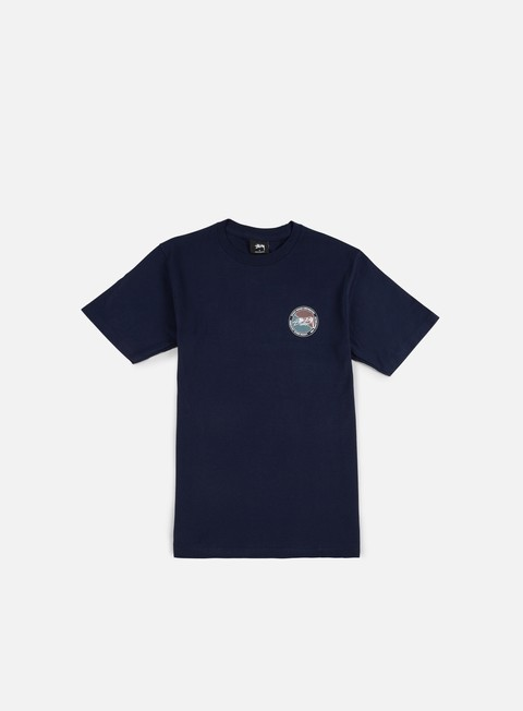 t shirt stussy halftone dot t shirt navy