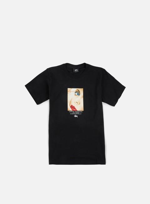 t shirt stussy harumi yamaguchi girl t shirt black