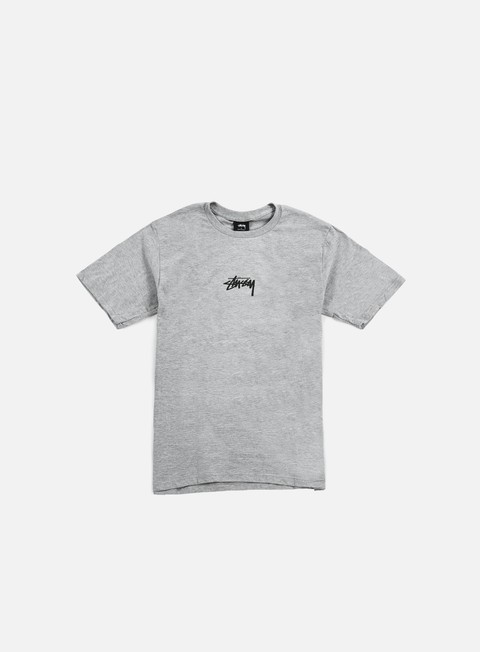 t shirt stussy hd logo t shirt grey heather