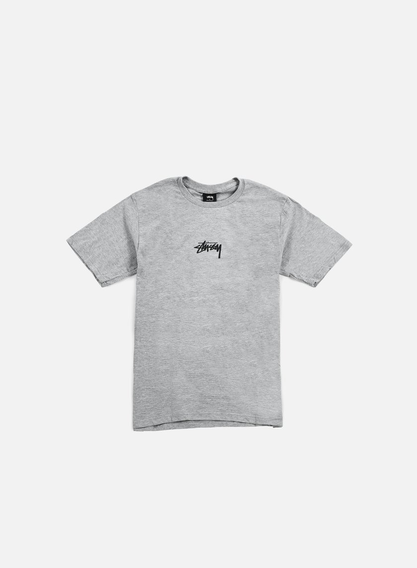 Stussy - HD Logo T-shirt, Grey Heather