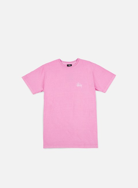 t shirt stussy hellshire pigment dyed t shirt pink