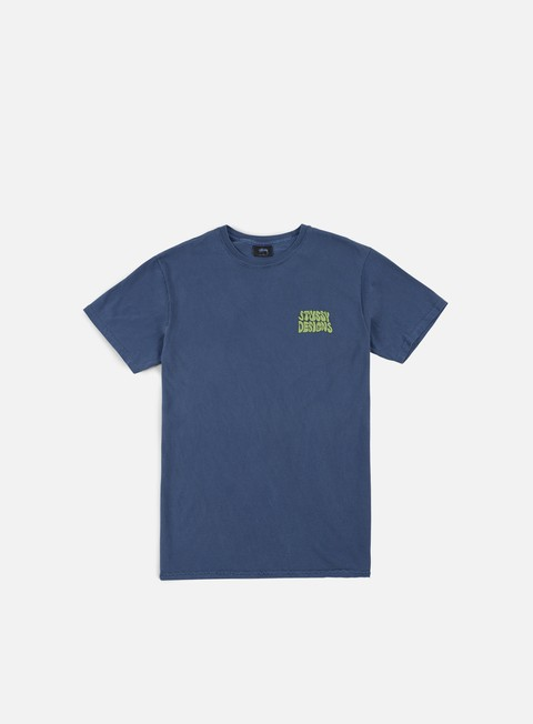 t shirt stussy hippie swing pigment dyed t shirt navy