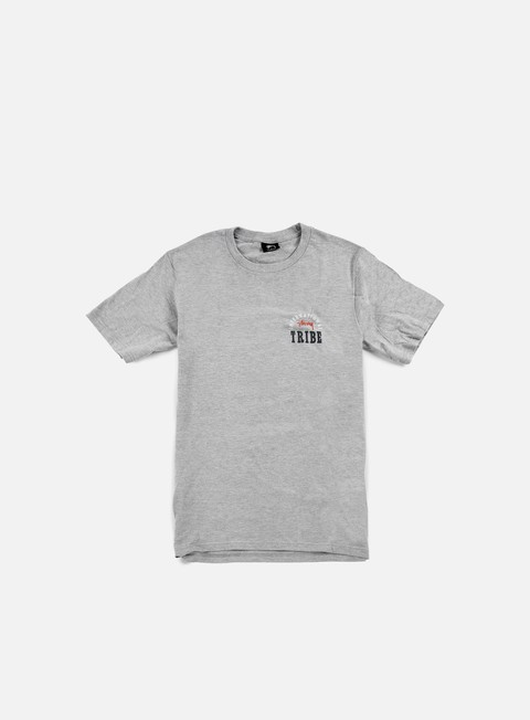 t shirt stussy ist stamp t shirt grey heather