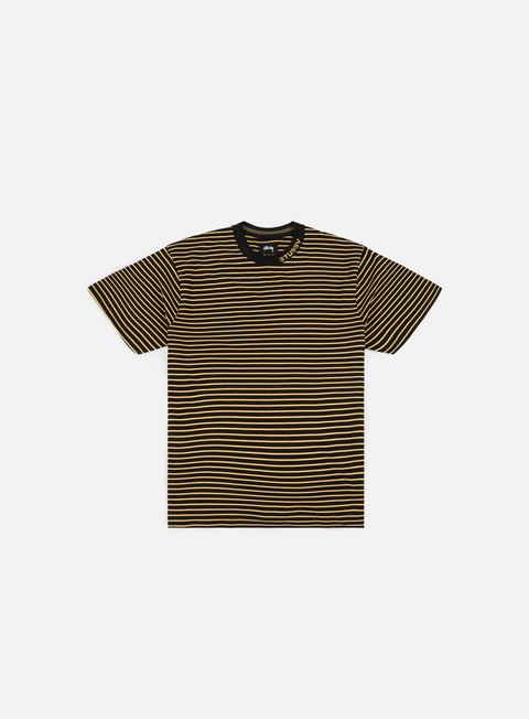 t shirt stussy jack stripe crew t shirt black