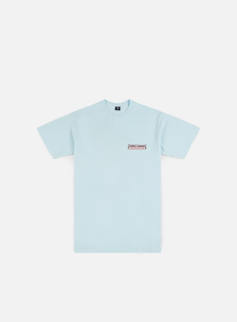t shirt stussy king t shirt light blue