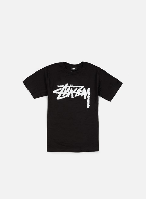 t shirt stussy label stock t shirt black