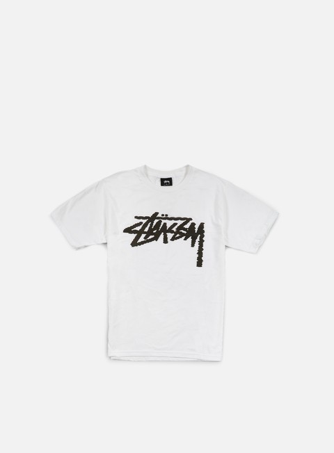 t shirt stussy label stock t shirt white