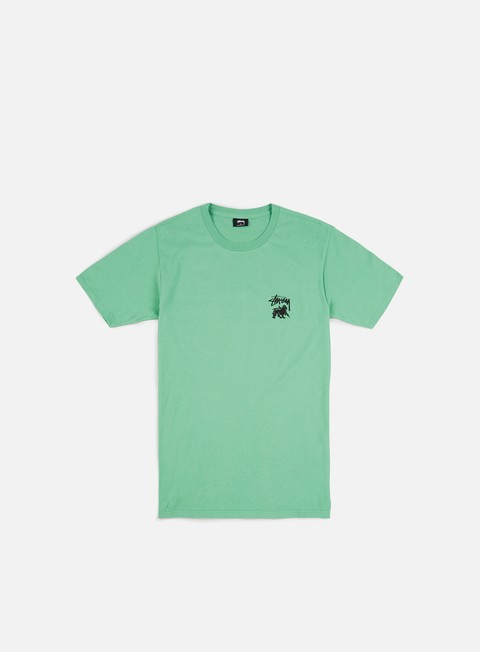 t shirt stussy lion shield t shirt moss