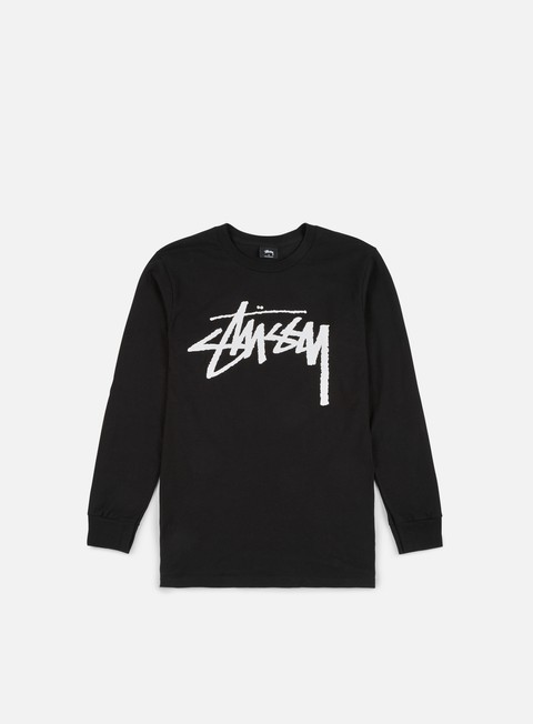 t shirt stussy old stock ls t shirt black
