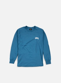 Stussy - Original Stock LS T-shirt, Blue 1