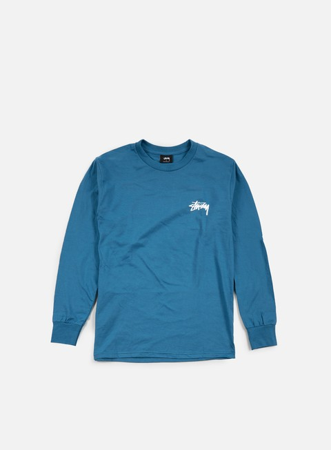 t shirt stussy original stock ls t shirt blue