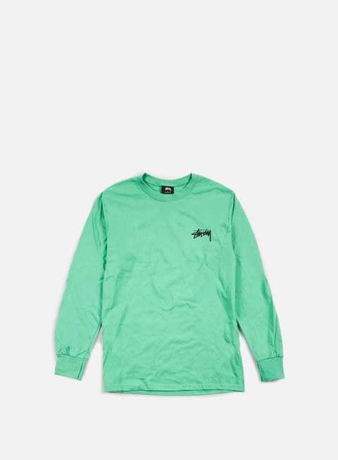 t shirt stussy original stock ls t shirt green