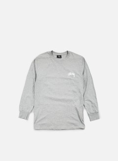 Stussy - Original Stock LS T-shirt, Grey Heather 1