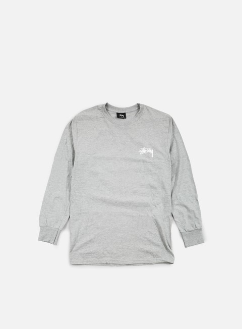 t shirt stussy original stock ls t shirt grey heather