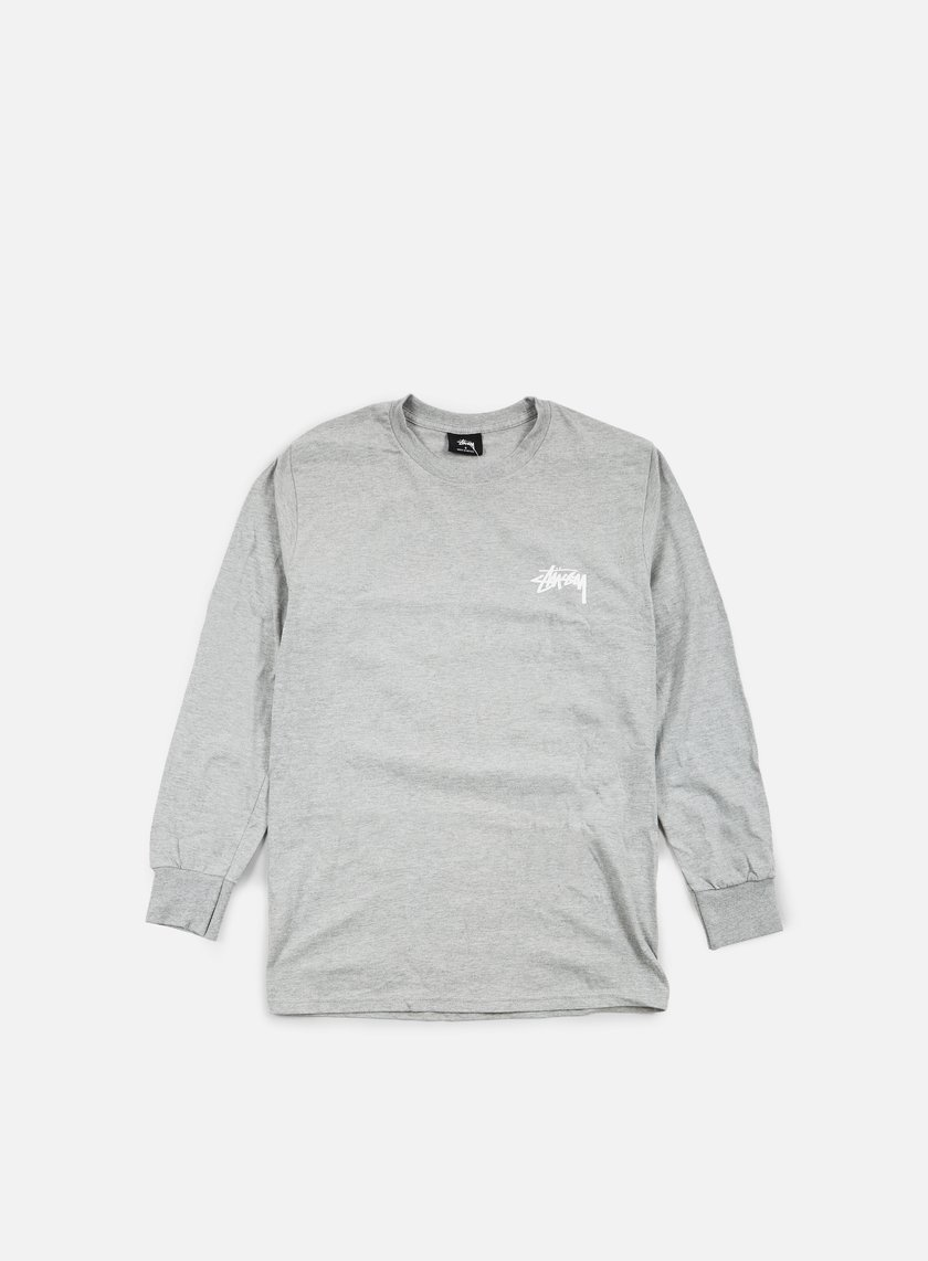 Stussy - Original Stock LS T-shirt, Grey Heather