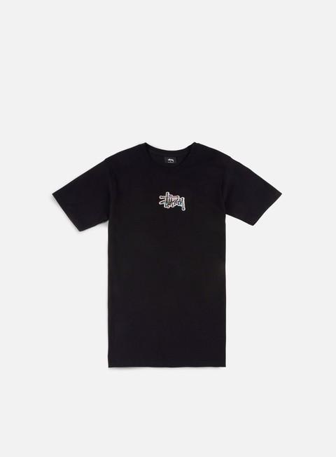 t shirt stussy prism logo t shirt black
