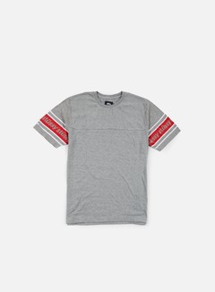 Stussy - Sleeve Stripe T-shirt, Grey Heather 1