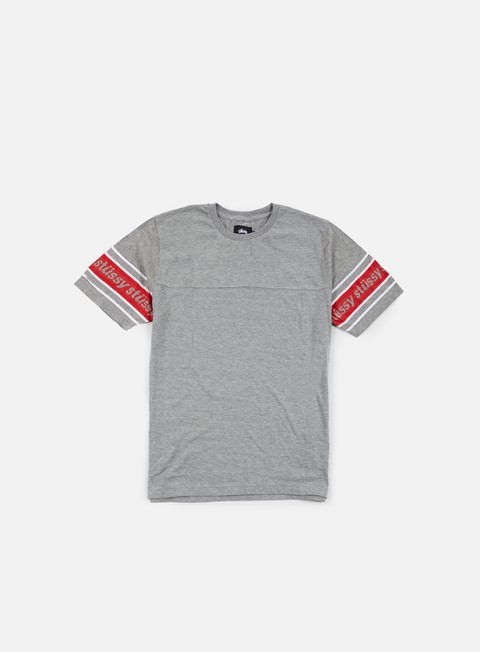 t shirt stussy sleeve stripe t shirt grey heather