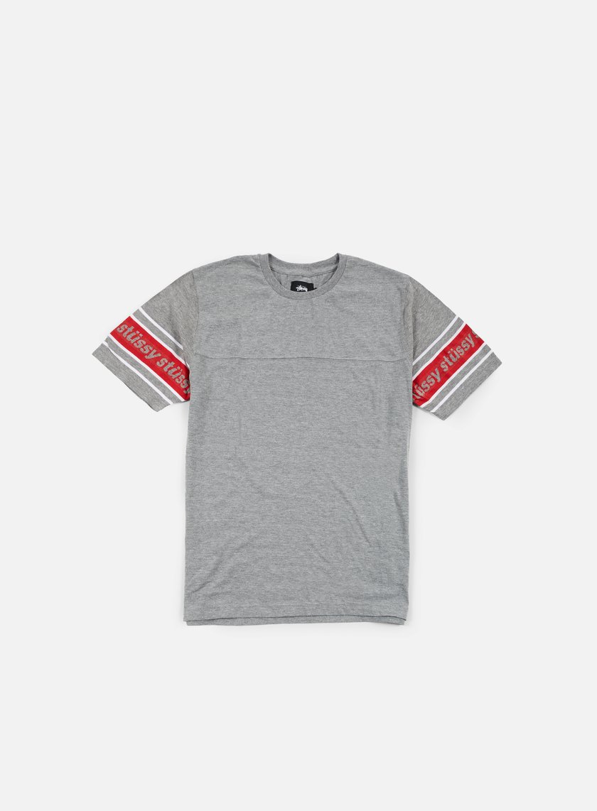 Stussy - Sleeve Stripe T-shirt, Grey Heather
