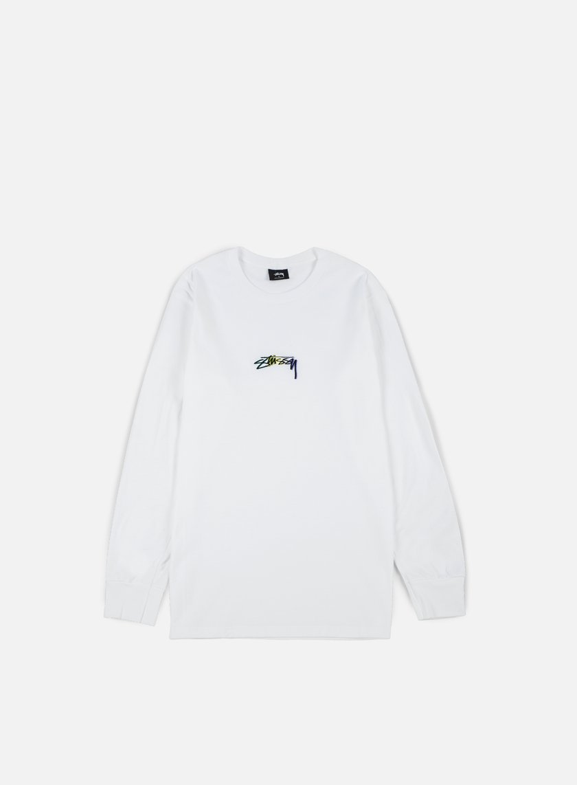 Stussy - Smooth Stock Embroidered LS T-shirt, White