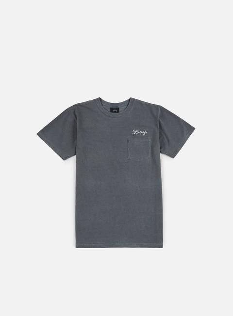 Sale Outlet Pocket T-shirts Stussy Stitch Pigment Dye T-shirt