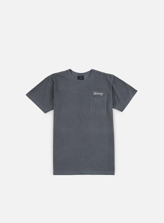 Stussy - Stitch Pigment Dye T-shirt, Black