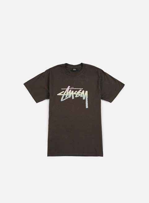 t shirt stussy stock fade t shirt charcoal