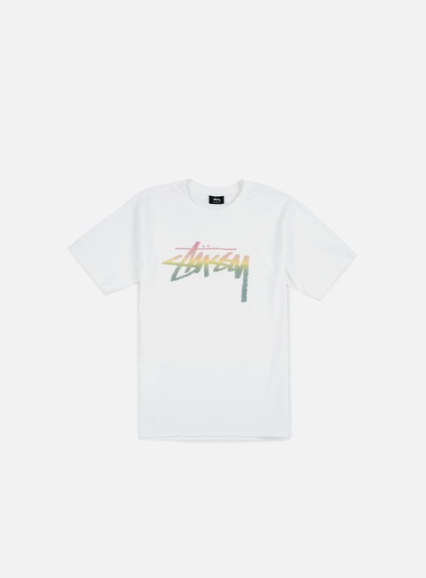 t shirt stussy stock fade t shirt white