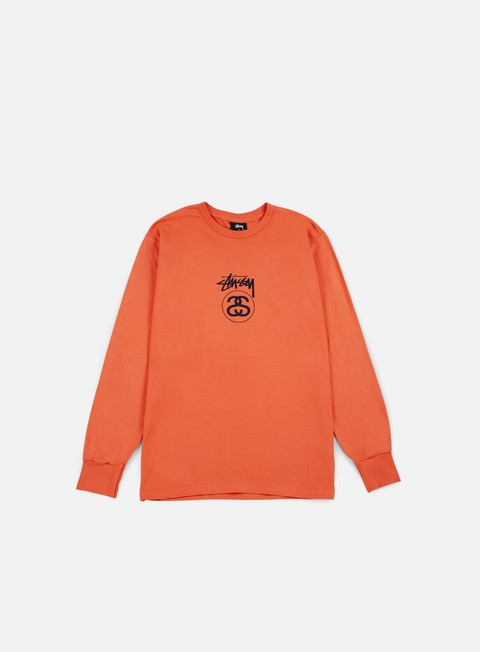 t shirt stussy stock link ho16 ls t shirt coral