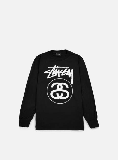 t shirt stussy stock link ls t shirt black white