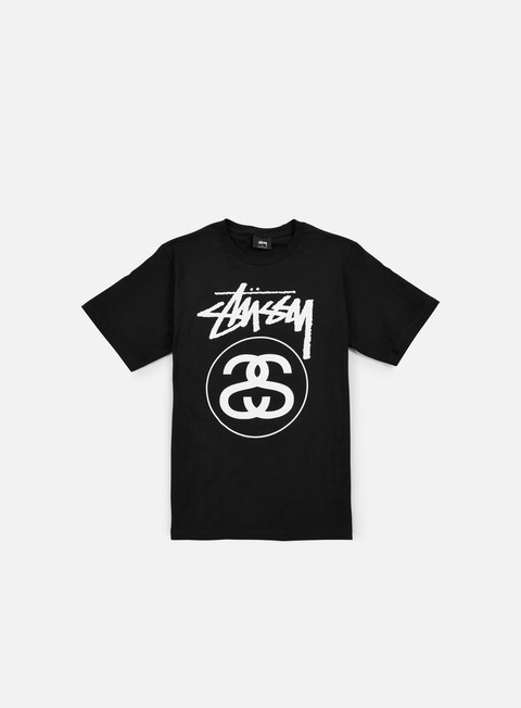t shirt stussy stock link t shirt black white