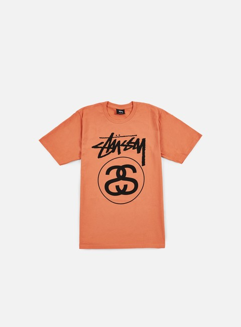 t shirt stussy stock link t shirt coral