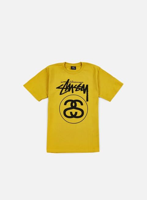t shirt stussy stock link t shirt mustard