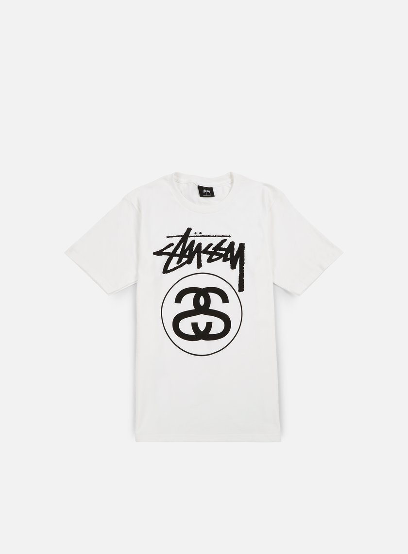 Stussy - Stock Link T-shirt,White/Black