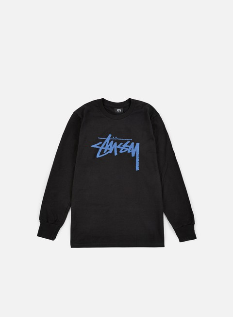 t shirt stussy stock ls t shirt black