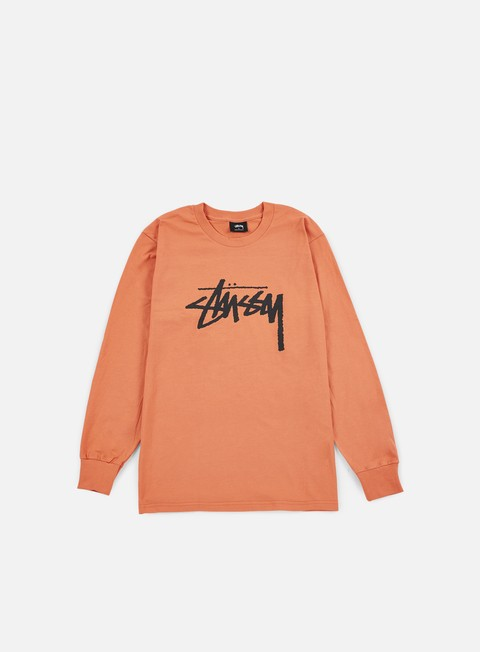 t shirt stussy stock ls t shirt coral