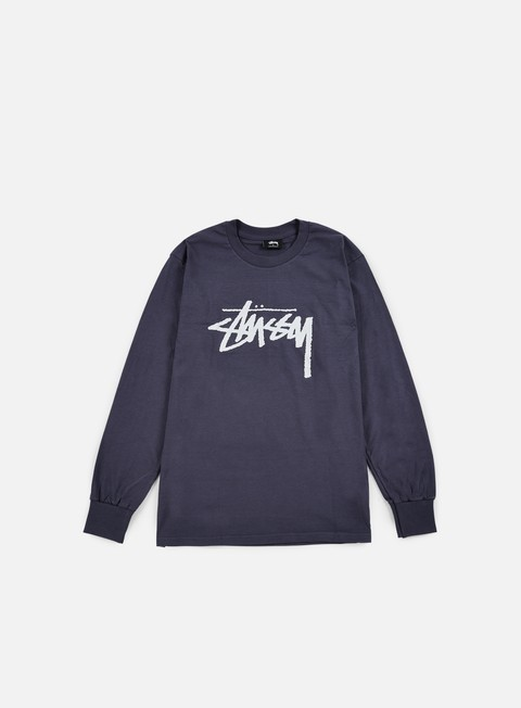 t shirt stussy stock ls t shirt midnight
