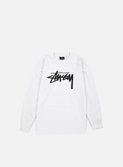 Stussy - Stock LS T-shirt, White 1