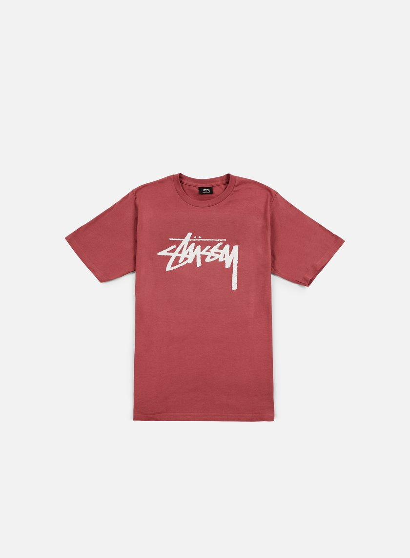Stussy - Stock T-shirt, Berry/Light Grey