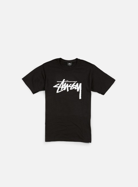 t shirt stussy stock t shirt black white