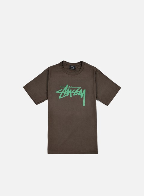 t shirt stussy stock t shirt charcoal green