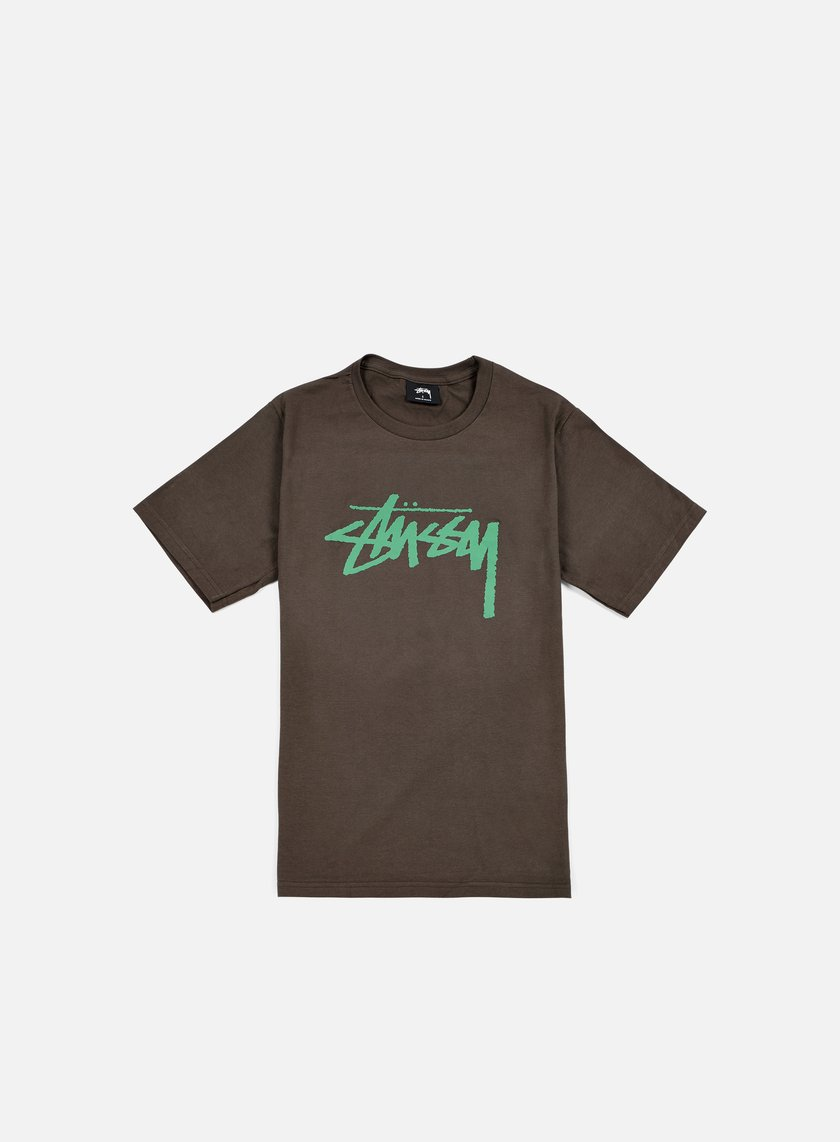 Stussy - Stock T-shirt, Charcoal/Green