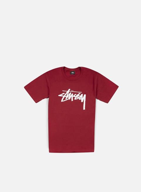 t shirt stussy stock t shirt dark red