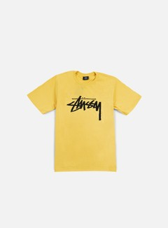 Stussy - Stock T-shirt, Faded Yellow/Black