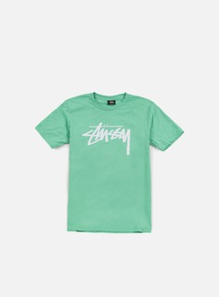 Stussy - Stock T-shirt, Green/White
