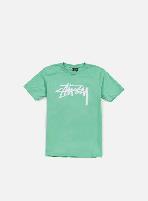 t shirt stussy stock t shirt green white