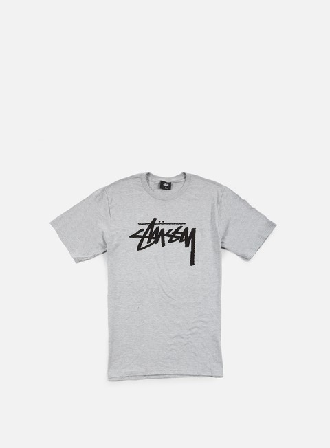 t shirt stussy stock t shirt grey heather