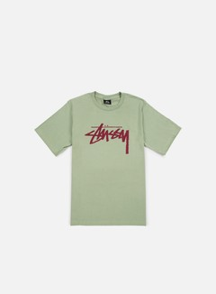 Stussy - Stock T-shirt, Moss/Grape 1