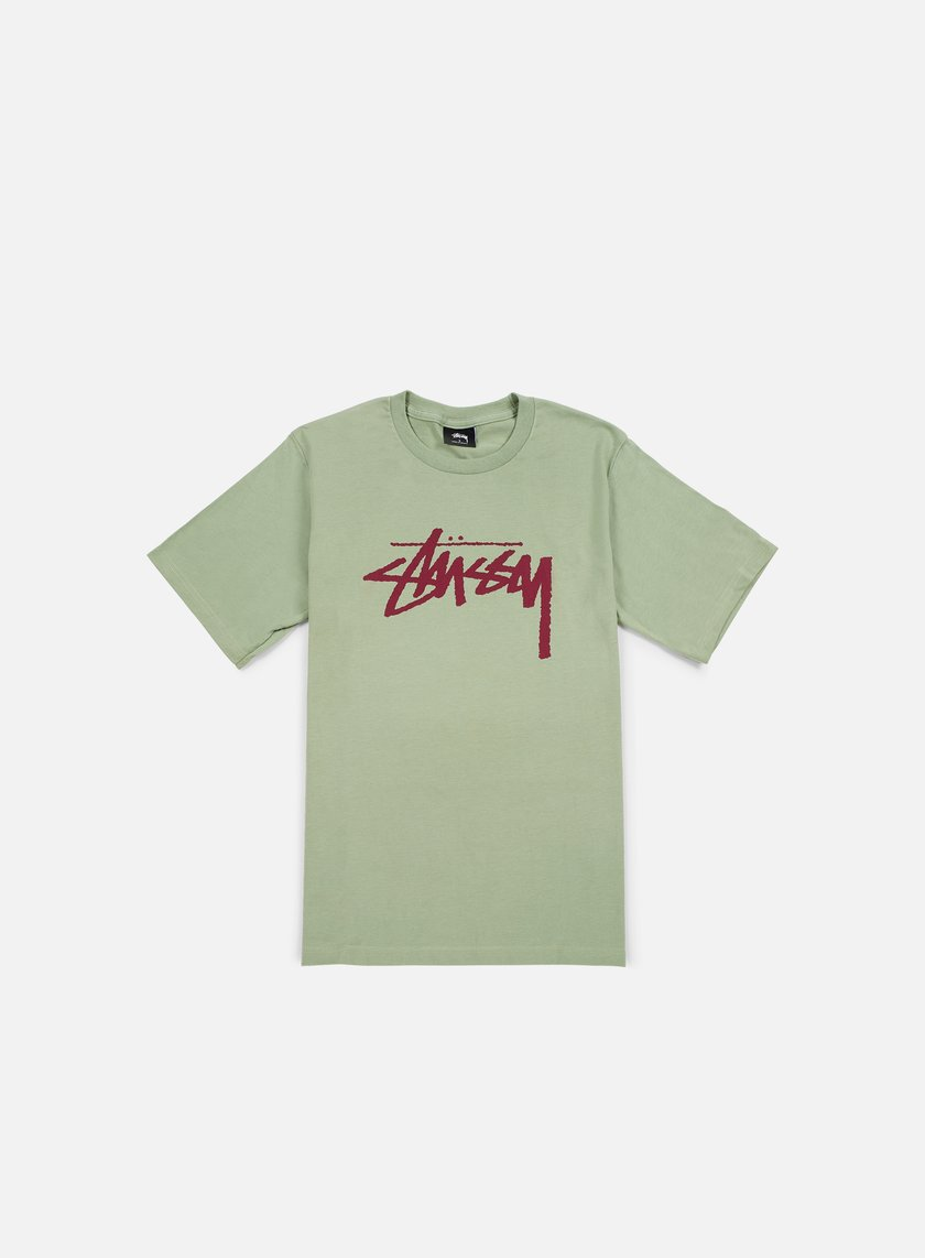 Stussy - Stock T-shirt, Moss/Grape