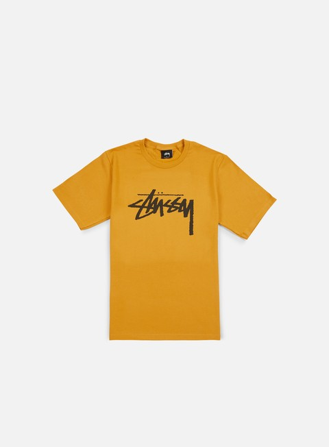 t shirt stussy stock t shirt mustard black